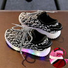 LED Toddler Sneakers Light Up Luminous Casual Unisex Shoes Size 6 to 8