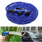 50FT/100FT Expanding Latex Flexible Garden Water Hose Pipe with Spray Nozzle US