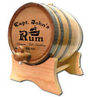 Captain Tom's Personalized American White Oak Wood Barrel For Aging Whiskey etc.