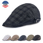 US Stock Flat Cabbie Newsboy Gatsby Hat Unisex Beret Cap Ivy Hat Golf Driving