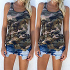 Womens Summer Vest Tops Sleeveless Shirt Blouse Casual Tank Tops T-Shirt AT