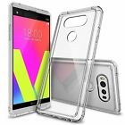 For LG V20 | Ringke [FUSION] Clear PC Back Shockproof TPU Bumper Cover Case
