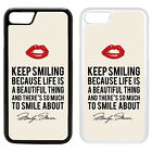 Marilyn Monroe Printed Back PC Case Cover - S-T1415