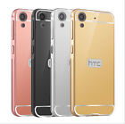 Luxury Mirror Back Cover + Metal Aluminum Frame Case For Htc Desire 530/626
