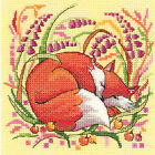 Heritage Crafts Woodland Creatures FOX Counted Cross Stitch Kit