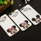 Cute Mickey Minnie Mirror-surface Soft TPU Case Cover for iPhone 7 6 6s plus 5s