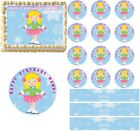 Ice Skating Girl Edible Cake Topper Image Cake Decoration Cupcakes Cookies CUTE!