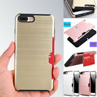 For iPhone 6S 6 7 Plus Case Ultra Hybrid Shockproof Tough Armor Card Slot Cover