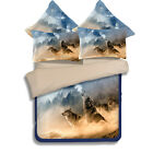 Cry Moon Wolf Queen/King Single Size Doona Duvet Quilt Cover Bed Set Pillowcases