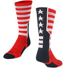 Twin City Usa Flag Breathable Blister Control Cushioned Crew Socks