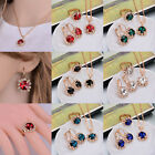 Girl Beauty Gold Plated Chain Earrings Ring Necklace Party Gift Jewelry Set