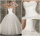 Sweetheart Bridal Gown with Beads & Wedding Dress & Bridesmaid Dress Size 6++18