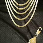 14K ITALY GOLD PLATED 5mm HERRINGBONE CHAIN NECKLACE GUARANTEED SAME DAY  H5ALL