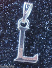 1 Silver Plated Alphabet Initial Letter Pendant Charm Wholesale Jewellery Making