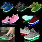 Fashion Unisex 7LED Light Lace Up Luminous Shoes Sportswear Sneaker Casual Shoes