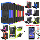 Rugged Hybrid Stand Armor Case Cover + Free Screen Film For Sony XPERIA XA Ultra