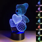 Creative Romantic 3D Night Light 7 Color Change LED Lamp Valentine's Day Gift