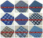 12 Pieces / 6 Pieces 40cm x 40cm classic pattern 100% cotton handkerchiefs (LJ)
