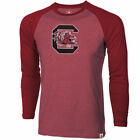 South Carolina Gamecocks Youth Garnet Heather Raglan Long Sleeve T-Shirt