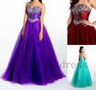 New 2017 Beads Long Prom Dress Tulle Bridesmaid Quinceanera Formal Evening dress