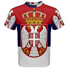 New Serbia Serbian Flag Sublimated Men's Sport Mesh T-Shirt XS-3XL Free Shipping