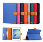 Denim Jean Leather Wallet Stand Case Smart Cover For iPad Mini / iPad 23456 /Pro