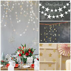 HAHA 4M Star Hanging Paper Garland Chain Wedding Party Home Banner Decoration