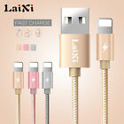 LAIXI Micro USB Charger Sync Cable For iPhone 6S 7 Plus Nylon Braided Wire Metal