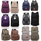 Canvas Backpack Outdoor Hiking Travel Rucksack Laptop Large School Bag