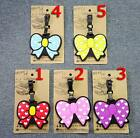 1P Silicone Minnie Bowknot Travel Luggage Tags Baggage Suitcase Bag Labels