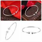 Women Silver Plated Round Charming Bracelet Wedding Valentine's Day Gift EA