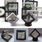 2 Size Square 3D Albums Floating Frame Holder Coin Box Jewelry Display Show Case