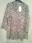 Adini 50% crushed polygeorgette/50% cotton tunic 3/4 sleeves V neck button thro