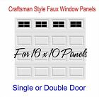 Craftsman Style Vinyl Garage Door Decal Kit 16 x 10 Faux Windows - 4 squares per