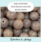 10 x Taupe / Beige Crackle Beads 20mm Synthetic Turquoise / Howlite