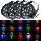 4PC 12W RGBW LED Stage Light DMX Dance Show Par Party Club DJ Disco Bar Lighting