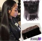 "13x2""Brazilian Straight Human Hair Silk Base  Ear To Ear  Lace Frontal Closure"
