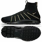 Nike Free Mercurial Flyknit Olivier Rousteing 834906-007 Black/Gold Men's Shoes $239.99 USD