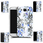 hard slim case cover for many mobiles - blue cluster flowers