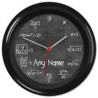 Chalkboard Clock Maths Blackboard Teacher Student Gift #2 Can be personalised
