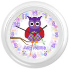 Cute Owl ClockCartoon Design #2 - Can be personalised