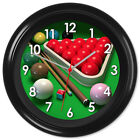 Snooker Clock Cue Balls Rack Chalk Gift #01 - Can be personalised £12.99 GBP on eBay