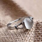 Brand New Fashion Solid White Gold Plated Silver Plated Ring Moonstone Wedding