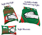 South Sydney Rabbitohs 2017 NRL Quilt Cover Set Doona Single Double Queen King