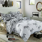 Zebra Striped Single Queen King Size Doona Duvet Quilt Cover Bed Set Black White