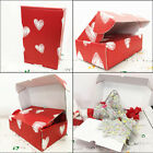 Love Heart Gift Box Postage Postal Post Packaging Birthday Chocolate Hamper Red