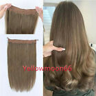 Remeehi Straight Invisible Wire Halo Hair Extensions 100% Remy Real Human Hair