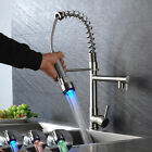 Pull Down Kitchen Faucet Swivel Spout Single Hole Sink Mixer Taps Deck Mounted