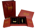 "Arabic Name ""SHAZIA"" Gold Plated Gift Set Birthday Eid Wedding Gifts For Her"