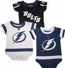 Tampa Bay Lightning 3pc Creeper Set Jersey Creeper Infant Baby $35.0 USD on eBay